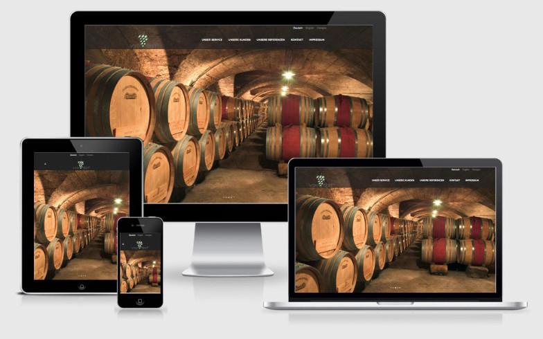 Portfoliowebseite für Vinotext