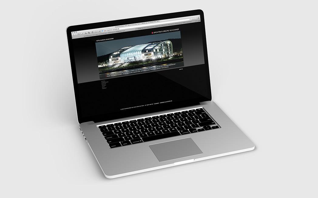 Portfolio-Homepage für Architekturbüro Schommer