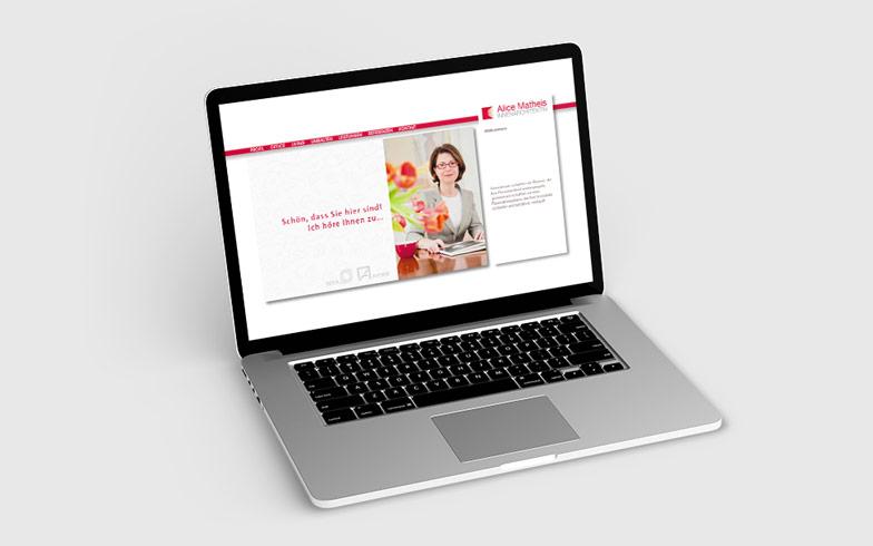 Erstellung Portfolio-Webseite für Innenarchitektin Alice Matheis