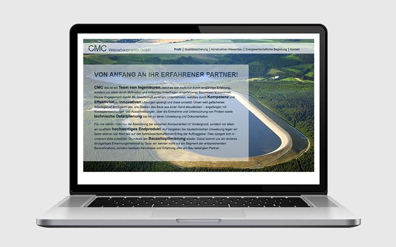 Erstellung einer repräsentativen Webvisitenkarte für CMC Wasserbauprojekte
