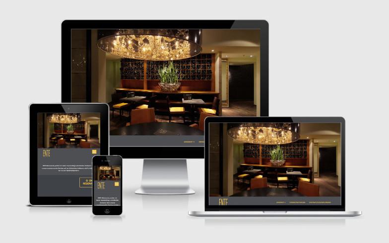 Webseite für Bistronomie ENTE, Bonn