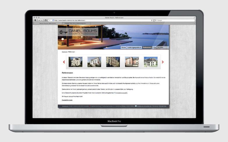Portfolio-Website mit TYPO3 für Immobilienbüro Daniel Bouhs