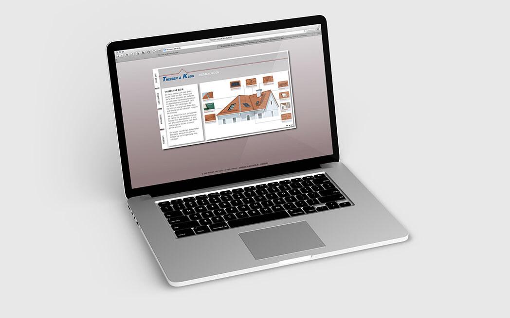 Professionelle Homepage für Dachdecker Thissen & Klein Bornheim
