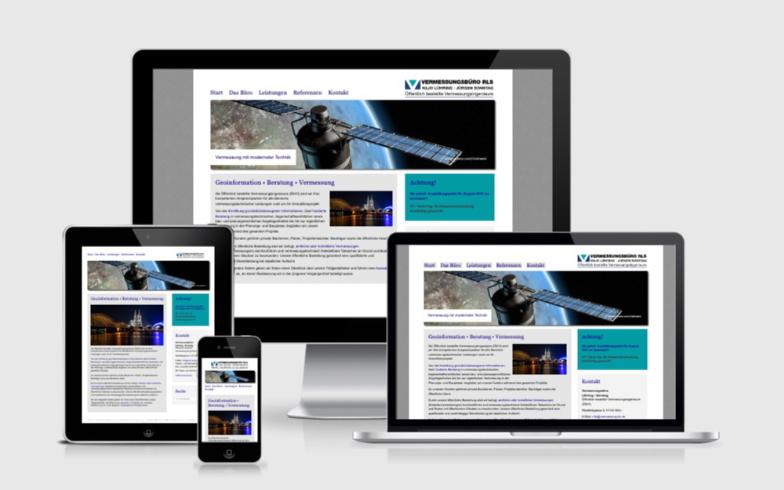 TYPO3 Homepage in Responsive Webdesign für Vermessungsbüro RLS Köln