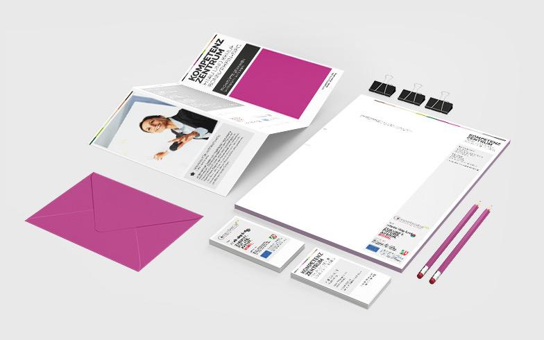 Entwicklung des Corporate Designs für das Kompetenzzentrum Frau und Beruf Bonn/Rhein-Sieg