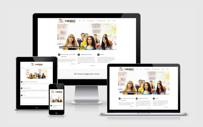 Responsive WordPress Website für HEBO Privatschule, Bonn