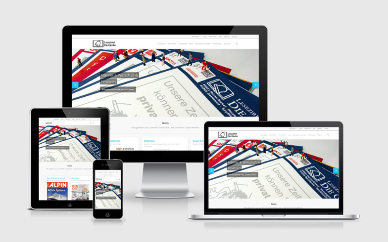 """WordPress Website mit integriertem WooCommerce-Shop für """"Lesezirkel die Glocke"""""""