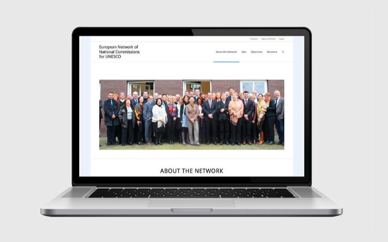 Erstellung einer Website mit Intranet für European Natcoms