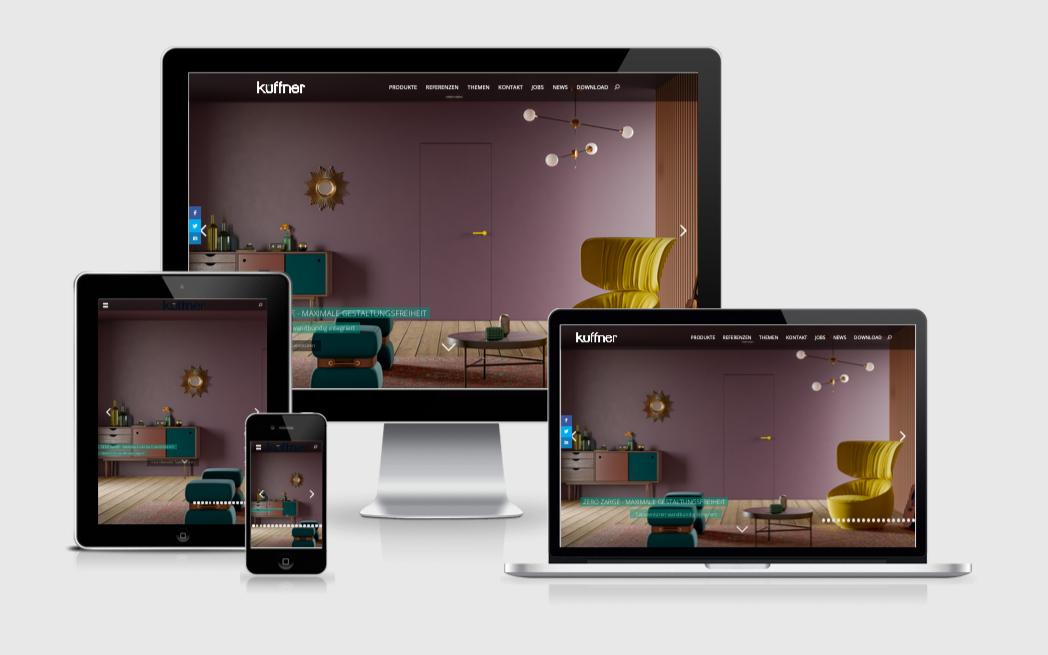 WordPress Website mit Produktkatalog für Küffner Aluzargen