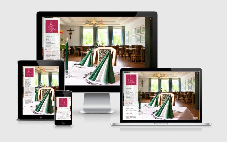 Erstellung der Website Emmingerhof.de mit WordPress