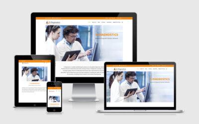 Entwicklung eines Internetauftritts mit integriertem Online-Shop für 5-Diagnostics