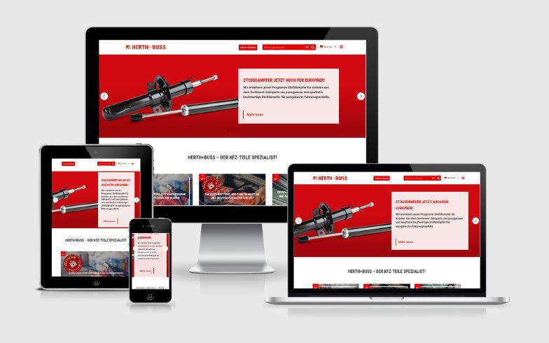 Erstellung einer WordPress Unternehmens-Website für Herth+Buss
