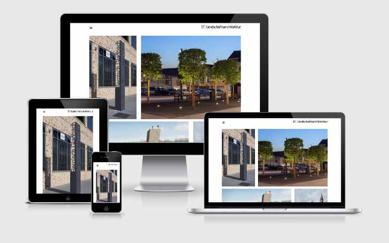 Repräsentative Website für die Landschaftsarchitektur GmbH