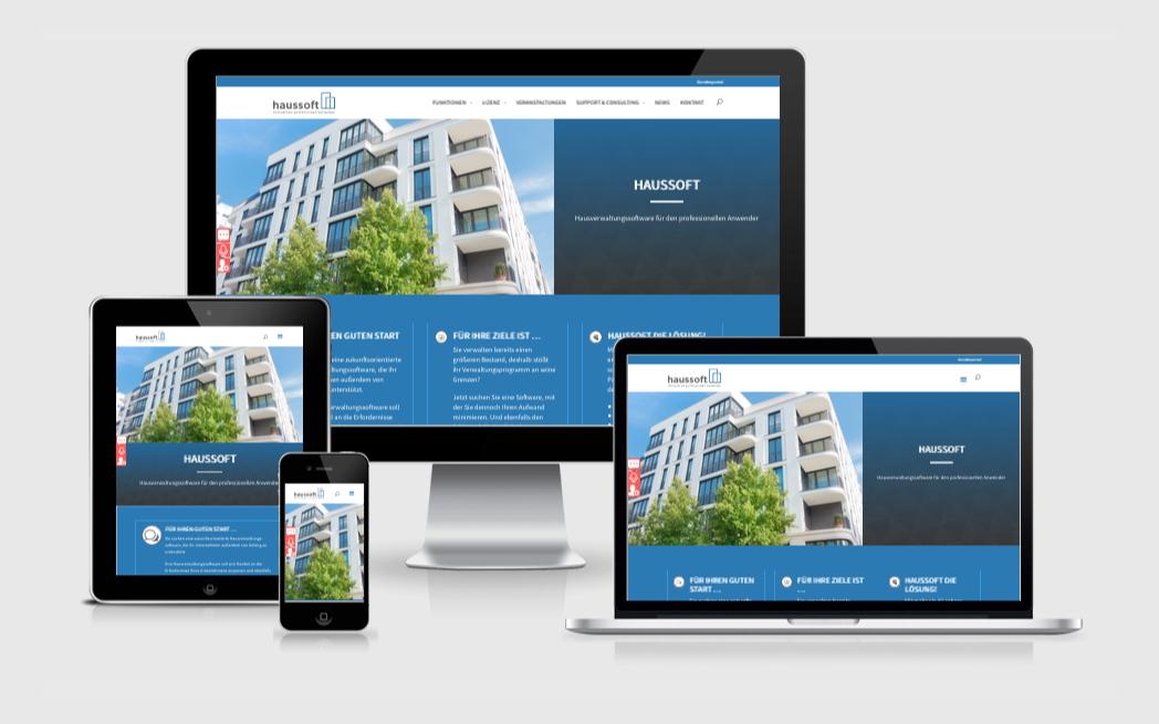 Design-Auffrischung und Dynamisierung für haussoft.de