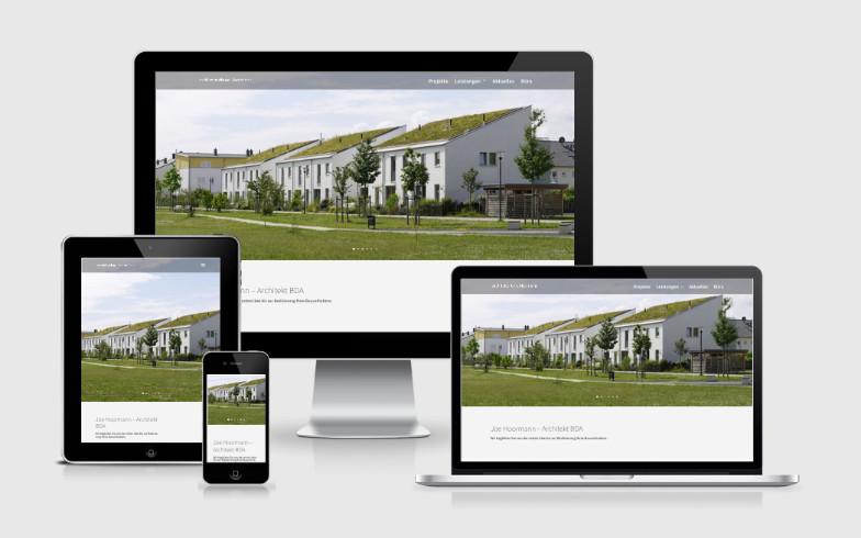 Entwicklung einer repräsentativen Portfolio-Website für das Architekturbüro Hoormann