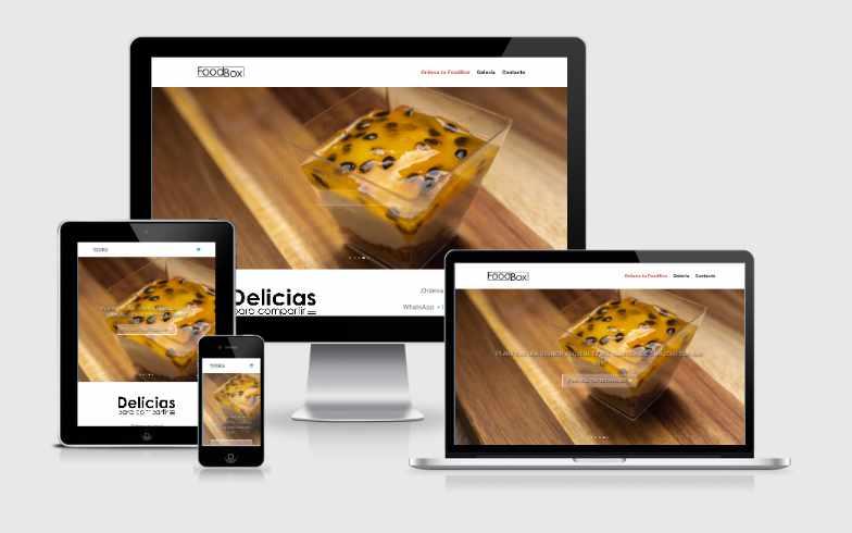 Erstellung einer Fingerfood-Delivery-Website für Foodbox
