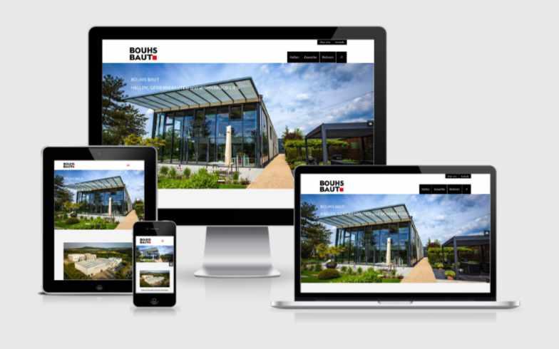 WordPress-Unternehmenswebsite für Bauunternehmen Bouhs