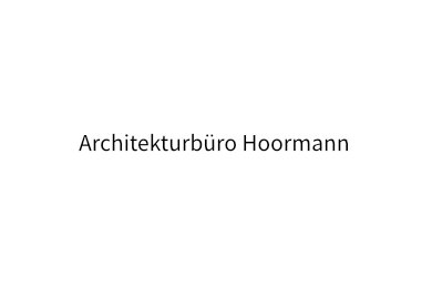 Architekturbüro Hoormann, Bonn