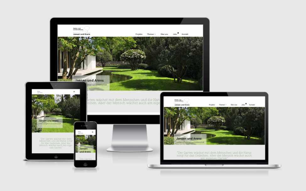 Website-Entwicklung für die Landschaftsgärtnerei Jansen & Arens
