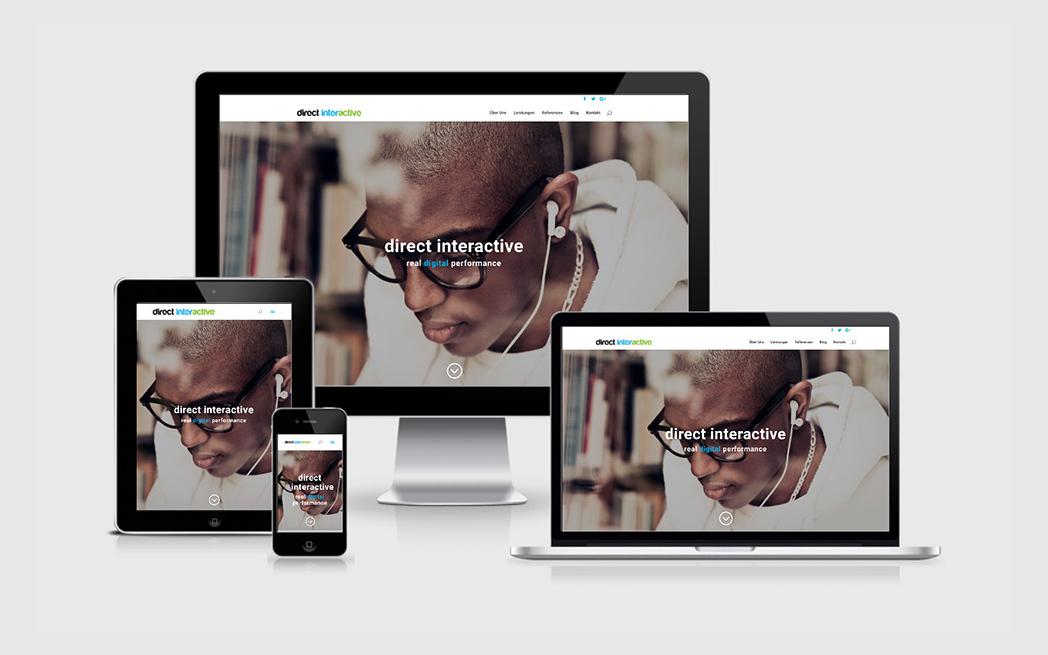 Agentur-Website für Burda Direct Interactive