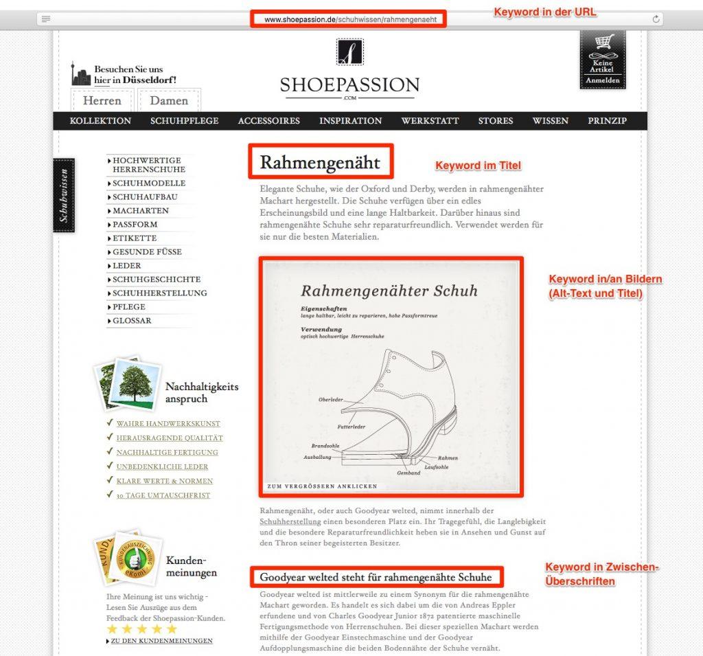 Planen Sie im Rahmen der Website Konzeption wie Sie Keywords einsetzen möchten