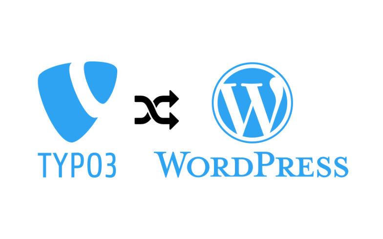 TYPO3 migrieren bzw. umziehen nach WordPress