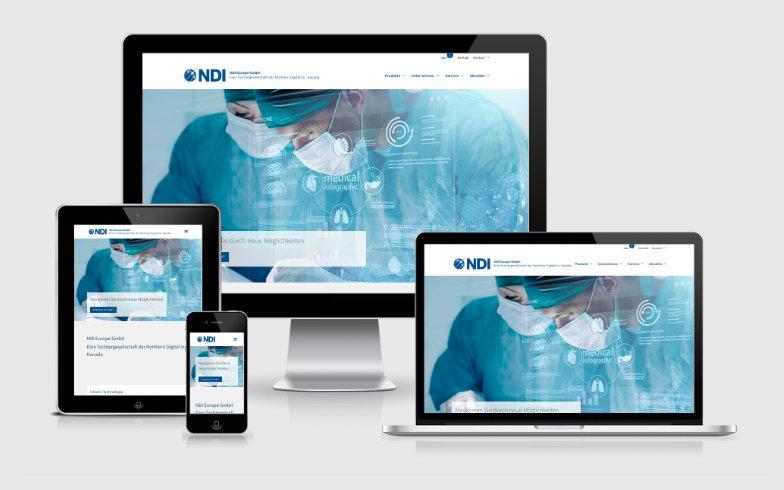 Entwicklung einer WordPress Unternehmens-Website für NDI Europe