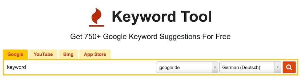 Keyword Tool als Alternative zum Google Keyword Planner
