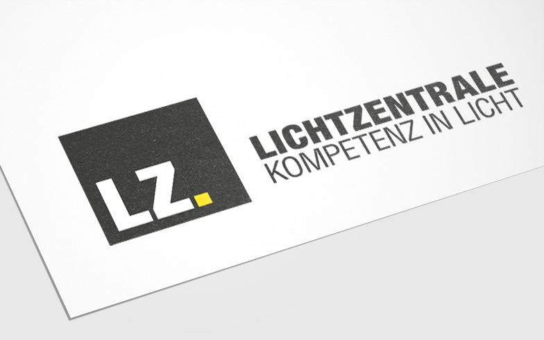Gestaltung des Firmenlogos für Lichtzentrale, Nürnberg