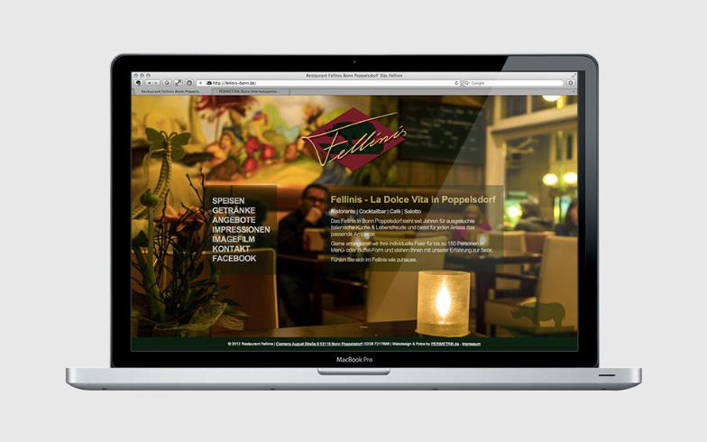 Stimmungsvolle TYPO3 Homepage für Bonner Restaurant Fellinis