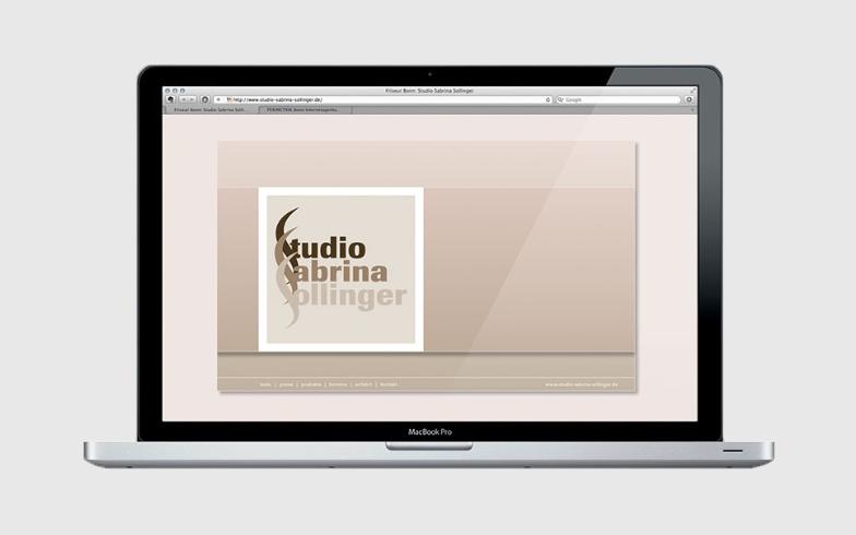 Corporate Design, Website und Printprodukte für Friseurstudio Sabrina Sollinger