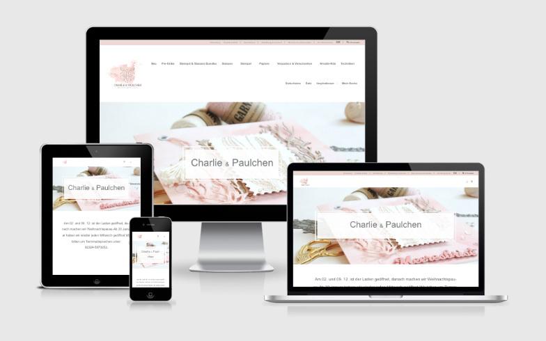 Entwicklung eines professionellen Webshops für Charlie & Paulchen