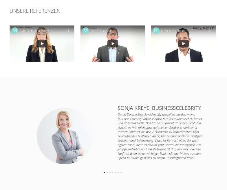Referenzen Bilder Template