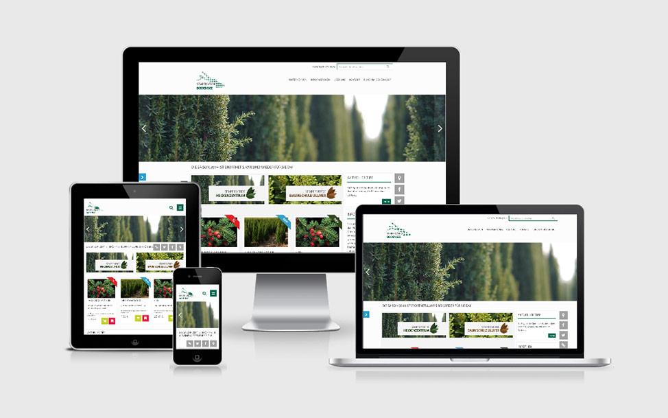Magento Online Shop in Responsive Design für Baumschule Semper Verde