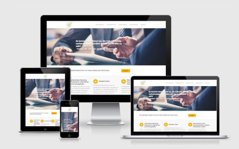 Erstellung einer Unternehmens-Website mit WordPress für eine Unternehmensberatung
