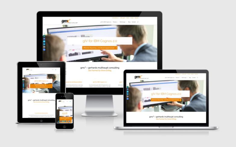 Professionelle Unternehmens-Website für gmc²