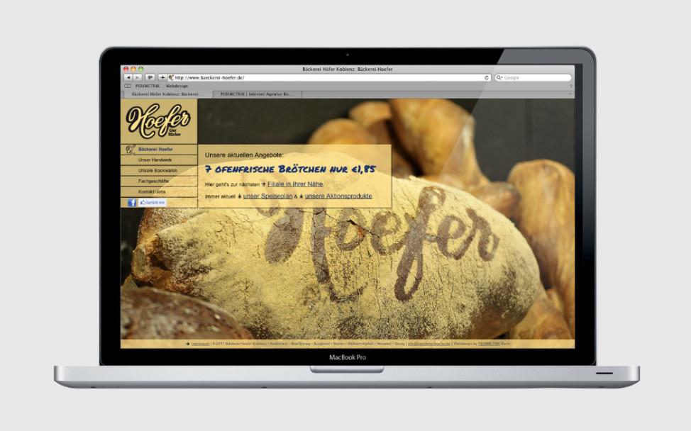 Professionelle TYPO3 Website für eine Bäckerei aus Koblenz