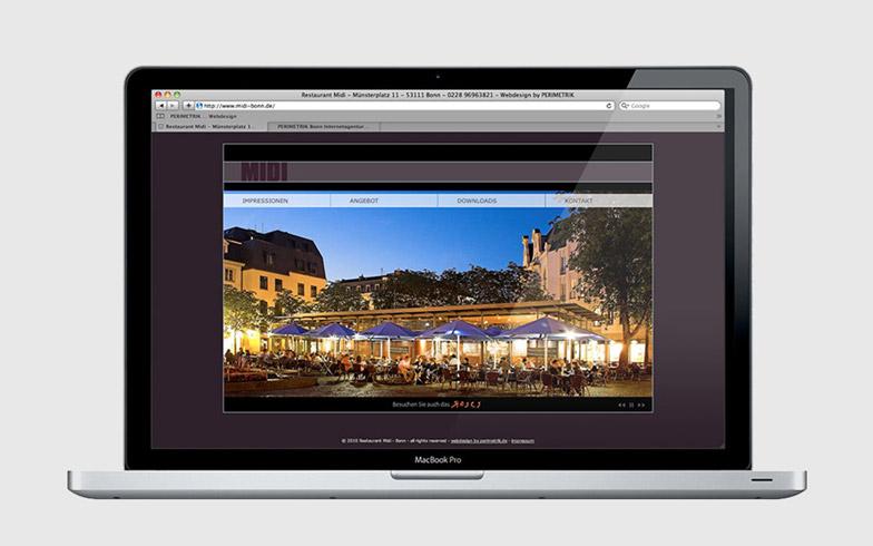 Professionelle Flash-Webseite für Bonner Restaurant MIDI