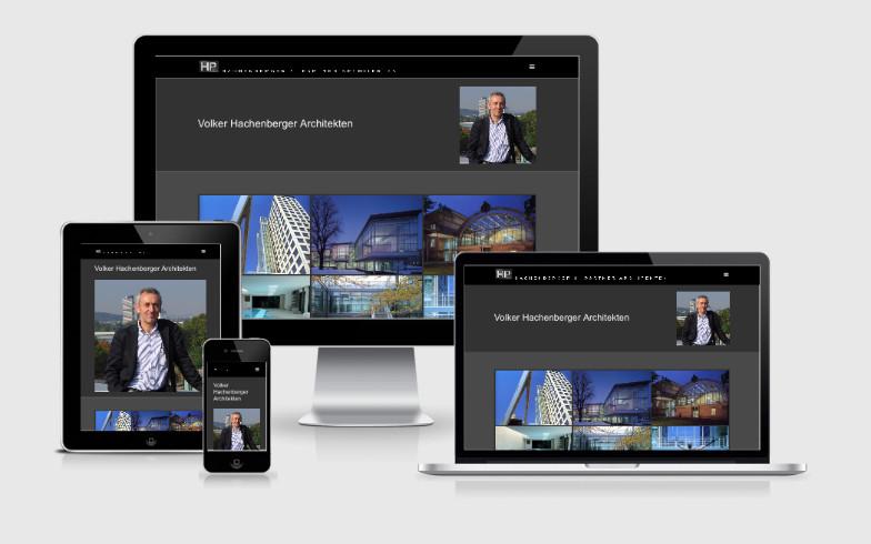 Elegante Webvisitenkarte für Hachenberger & Partner Architekten