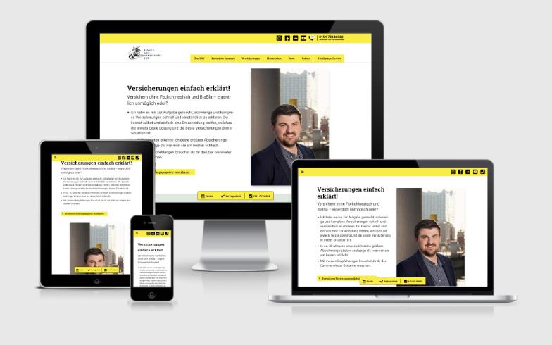 WordPress-Website für einen Versicherungsmakler