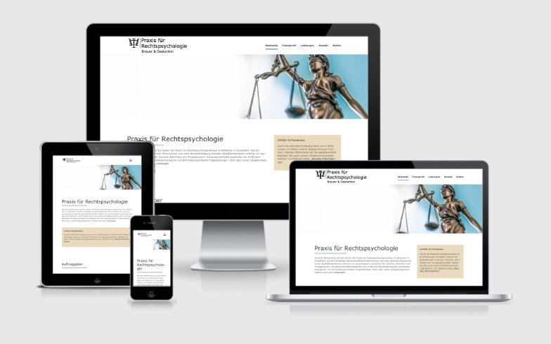 WordPress Webvisitenkarte für eine Praxis für Rechtspsychologie