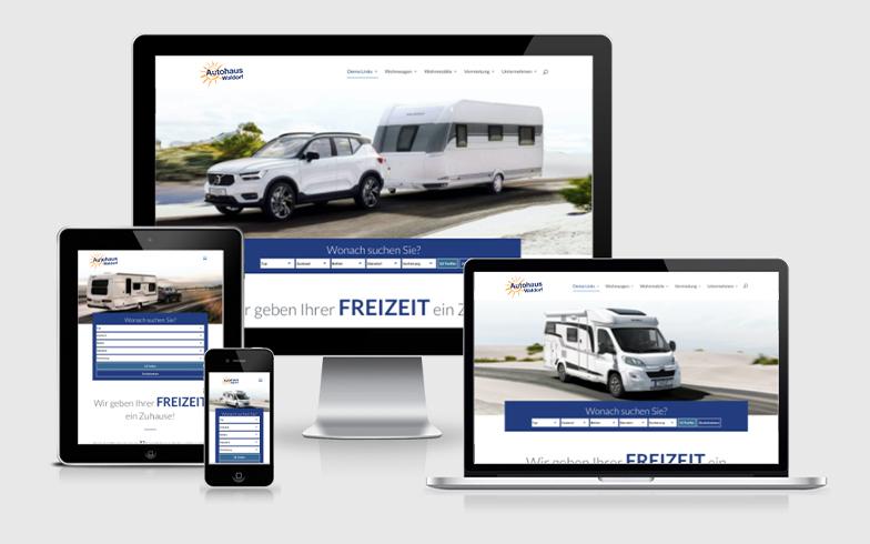 WordPress Webseite mit Fahrzeugdatenbank für KFZ Händler