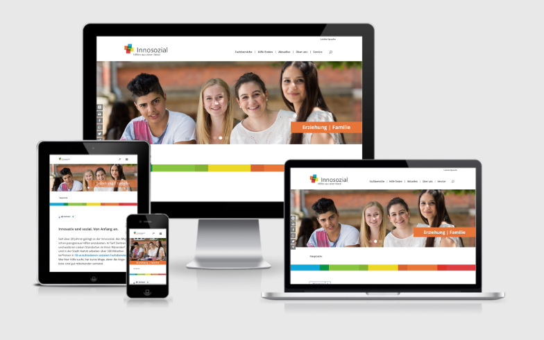 Erstellung einer dynamischen WordPress Website für den Sozialdienstleister Innosozial